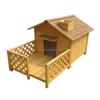 wholesale outdoor large wooden dog house factory for sale