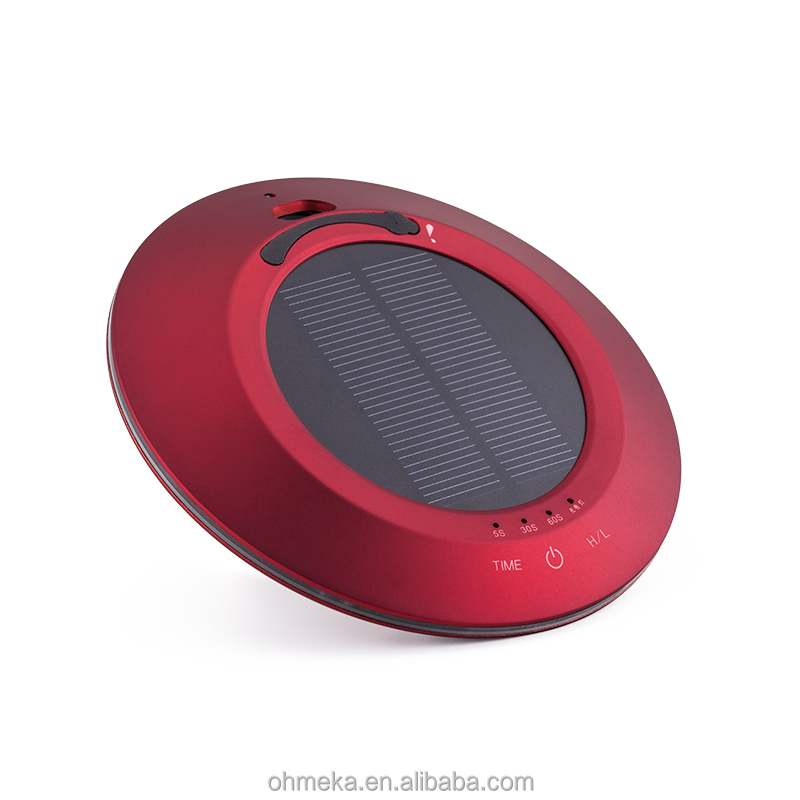 Solar power car negative ion Portable Car Air Purifiers/ Red solar power Hot New OEM Compact Portable Ozonizer Car Air Purifier