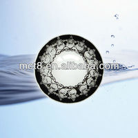 2 tones gray design big size soft color contact lens