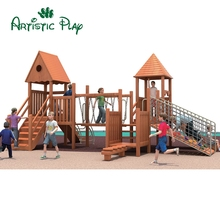 Factory Outlets Eco-friendly Play Gym Outdoor Wooden Playground Equipment