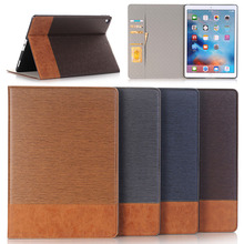 New anti dropping scratch-proof protective luxury stent stripe cowboy stripe leather pattern card holder case for ipad pro 12.9