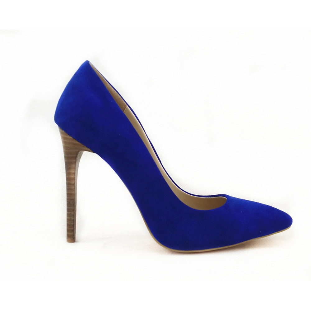OP30 2017 Newest Sexy Beautiful Women Factory Blue Patent Leather High Heel Shoes