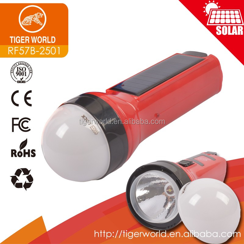Emergency high power led bulb portable solar flashlight