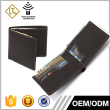2016 wholesales popular card case mens wallet slim bifold genuine leather wallet