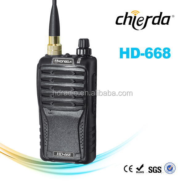 Chierda Portable two way walkie talkie HD-668 commercial 2 way radios with CE Certification