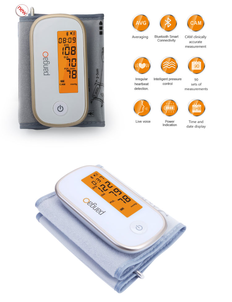 FDA Approved Pangao Bluetooth blood pressure monitor, BP Monitor Bluetooth