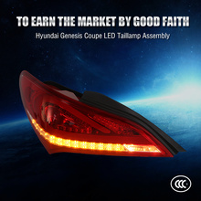 China factory direct price tail light type fortuner rear lamp auto led tail lamp for Genesis Coupe CE CCC Emark certification