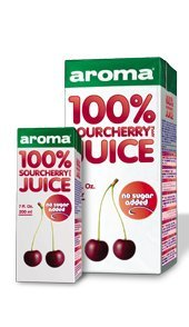 Aroma 100% Natural Sourcherry and Apple Juice