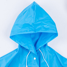 Customized Blue 100% Waterproof Windproof PVC Long Raincoat/Rain Poncho For Adult