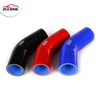 2016 most popular ID 127mm 5 Inch 3-6 ply Polyester Reinforced 45 Degree Elbow Silicone Hose