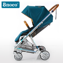 Aviation aluminium alloy newest luxury pu leather baby stroller with car seat