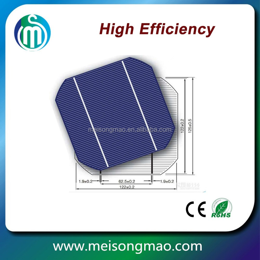 hot sale high efficiency Monocrystalline Silicon Celulas solar cell price for solar panel