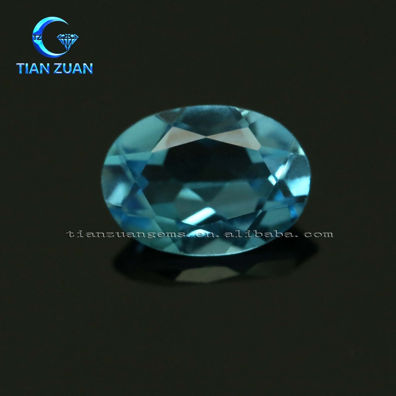 Natural blue oval shape Topaz gemstone loose stone