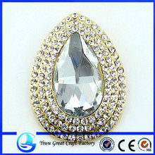 Pearl Necklace Rhinestone Brooch A002