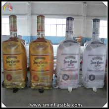 hot sale advertising wine bottle replica , inflatable replica water bottle for sale