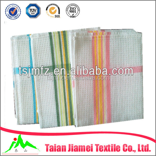 kitchen textile cheap bulk dish towel 100% cotton honeycomb tea towel wholesale