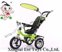 Popular children tricycle kids 3 wheel pedal car for sale with shade/Baby Tricycle 4 in 1/Cheap Kid Tricycle with round control