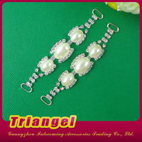 Top Selling Pearl Rhinestone Connector For Dress