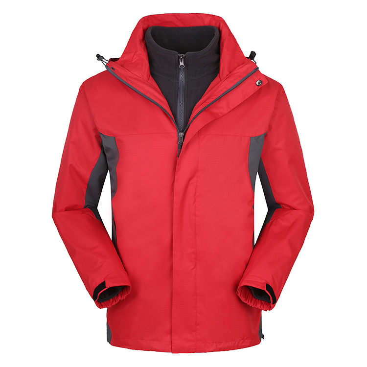 Factory custom fashion winter warm two pieces  new sport  Jacket good quality   unisex  outdoor  windproof  waterproof  Jacket