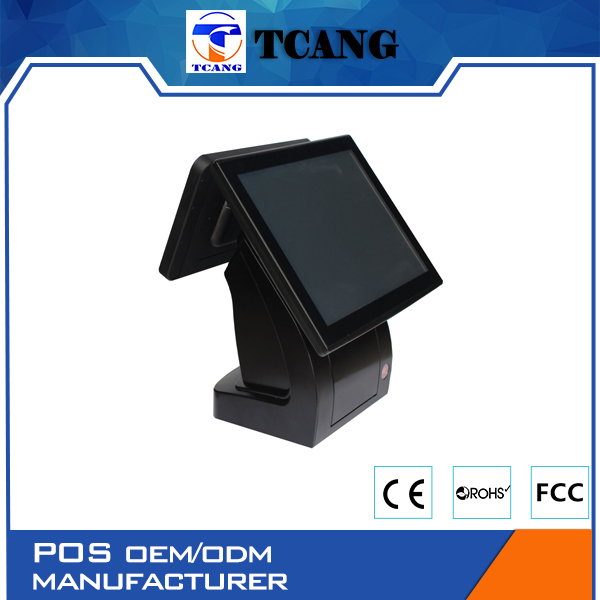 "2016 tuocang 15"" Inch touch screen pos system for Pizza Shop/Cafeteria/Restaurant"