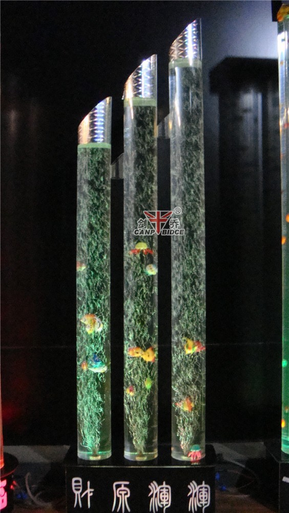 Commercial fish aquariums standing floor lamps for hotel for Floor fish tank