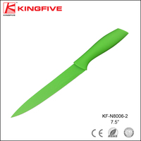 KINGFIVE colorful blade color handle non-stick 8 inch carving knife