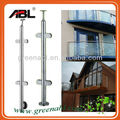 SS304 side mounted glass handrail balustrades systems in high standard quality