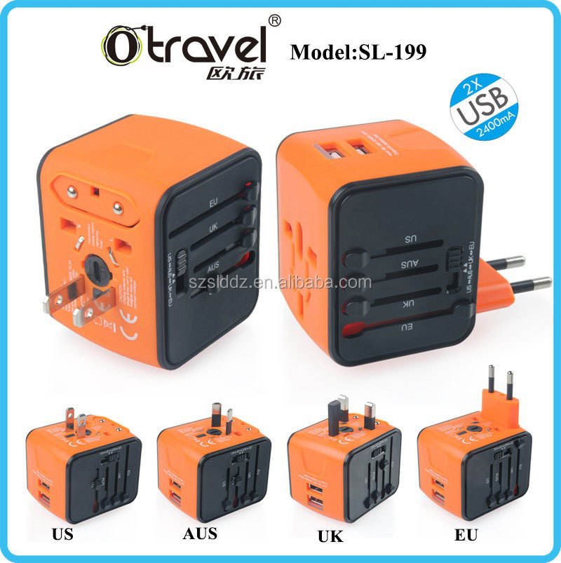 Brand New Universal UK Mains Travel Adapter Power Plug Travel charger