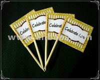 Wording Personalized Party Toothpick Flag Food Pick Design 2