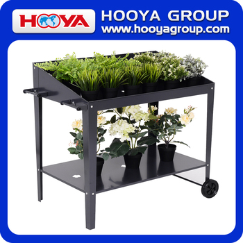 galvanized movable cheap metal planter holder