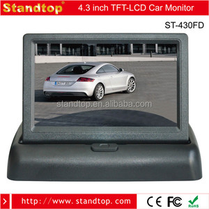 "4.3"" TFT LCD Car Foldable Rearview Monitor WIth RCA connector"