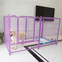 folding strong black metal wire pet playpen for dogs with 6 panels
