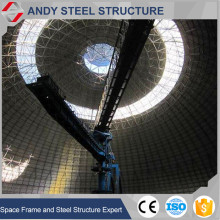 Large span dome shape steel roof truss coal storage building