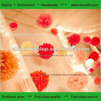 hanging magic tissue beauty paper flower