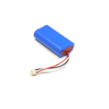 Rechargeable 2200mAh 18650 li-ion battery pack 2s1p 7.4v