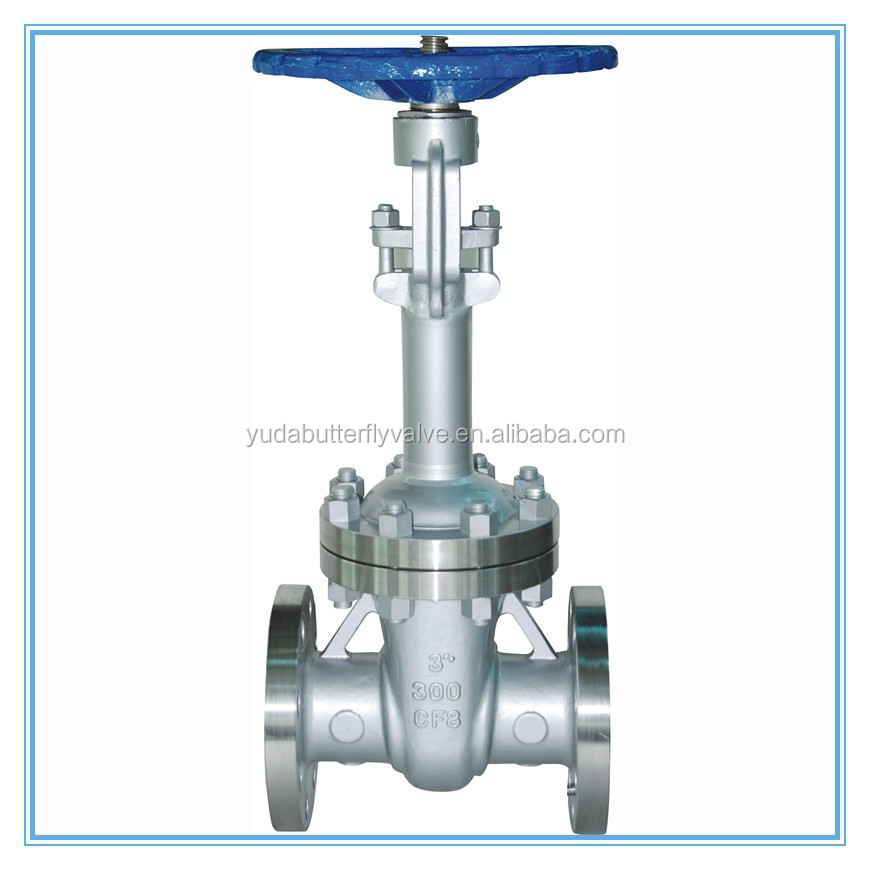 SS304 Seat Cushion Gate Valve With Gear Operation
