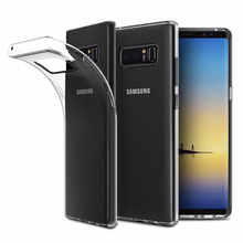 Print logo and Amazon barcode free sample cell phone soft clear tpu case for Samsung Galaxy Note 8