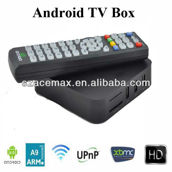 Android TV Set Top Box Amlogic 8726 M3 ARM Cortex A9 1080P HD XBMC Preinstalled 3D Supported
