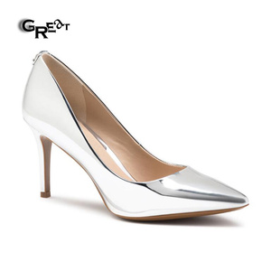 Women Shoes Chengdu Stiletto Heel Pointed Toe Metallic Color Women Sexy High Heels