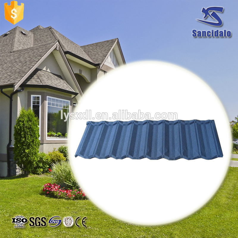 Modern design spanish synthetic resin metal roof tile for wholesales