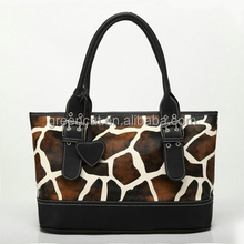 2016 China manufacturer factory cheaptrendy fabric giraffe pattern no name fashion handbags G06-2