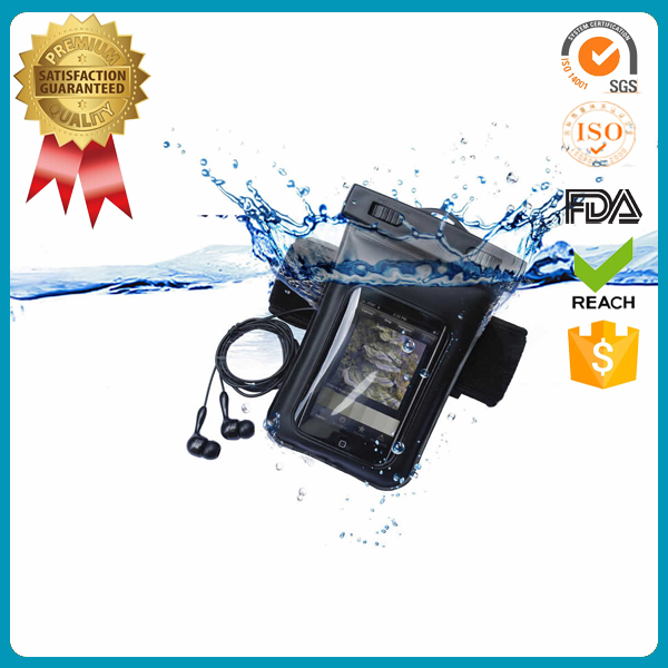 PVC cell phone camera beach case pouch cellphone mobile phone PVC waterproof bag