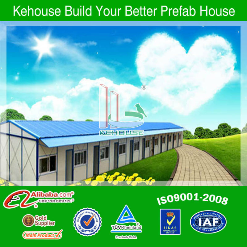 Low cost easy installation temporary/portable/modular/prefab house plans