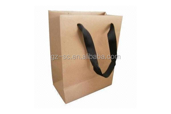 Brown Paper Bags Recyclable Gift Jewelry Food Candy Packaging Shopping Bags For Boutique