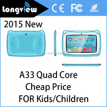 "New models tablets 2015 7"" kids tablet pc Android 4.4 KitKat Quad Core 7inch wifi Tablet PC"