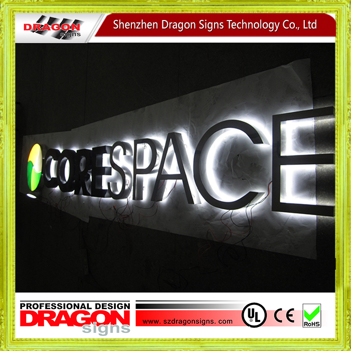 Business building front LED stainless steelilluminated sign , illuminated letters , price illuminated signs