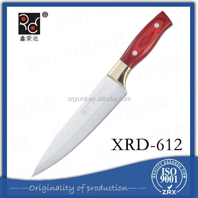 High Grade 8 Inches Salad Knife Smart Chef Microtech Knife With Fixed Handle