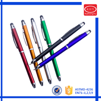 Double Function Metal Barrel Easy Carry Stylus Dot Pen