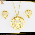 fashion jewellery cut bear round zircon inox jewelry set for kids women