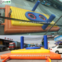 Guangzhou commercial bossa-ball giant inflatable volleyball court for adults on sales